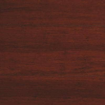 Strand Woven Mahogany 3/8 in. T x 5-1/8 in. W x 72 in. L Engineered Click Bamboo Flooring