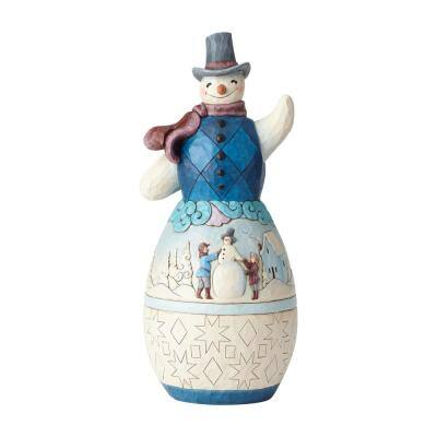 19 in. Snowman with Winter Scene