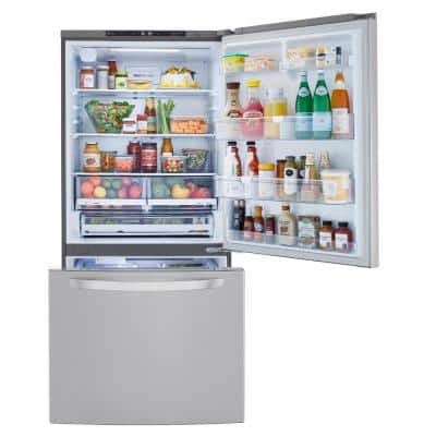 25.50 cu. ft. Bottom Freezer Refrigerator in PrintProof Stainless Steel with Filtered Ice and Smart Cooling