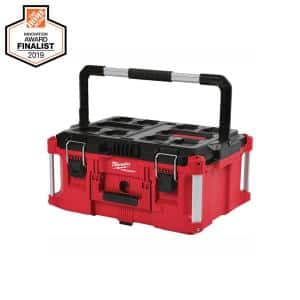 PACKOUT 22 in. Small Red Tool Box w/ 75lb. Weight Capacity
