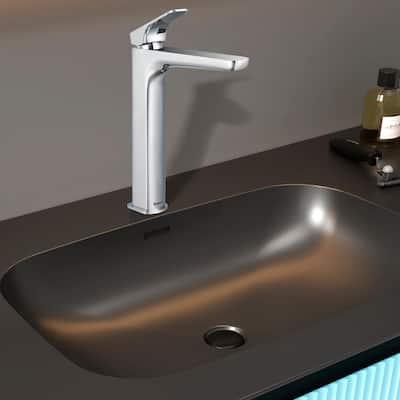 Single Hole Single-Handle Vessel Bathroom Faucet in Chrome