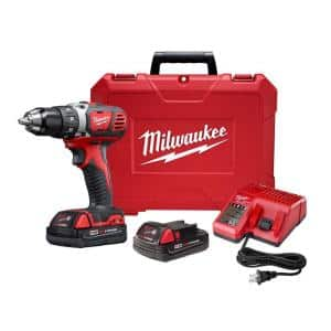 M18 18-Volt Lithium-Ion Cordless 1/2 in. Drill Driver Kit w/ (2) 1.5Ah Batteries, Charger, Hard Case