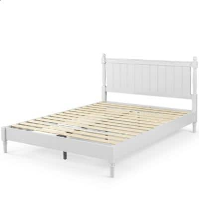Provence Full Platform Bed with Solid Headboard