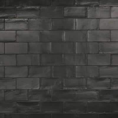 Chester Matte Nero 3 in. x 6 in. Ceramic Wall Subway Tile (6.02 sq. ft. / Case)
