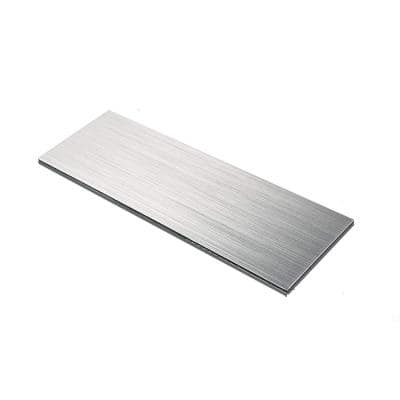Subway Backsplash Silver Brushed 12 in. x 4 in. Metal Mosaic Peel and Stick Tile (10 sq. ft./case)