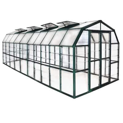 Grand Gardener Clear 8 ft. x 20 ft. Greenhouse