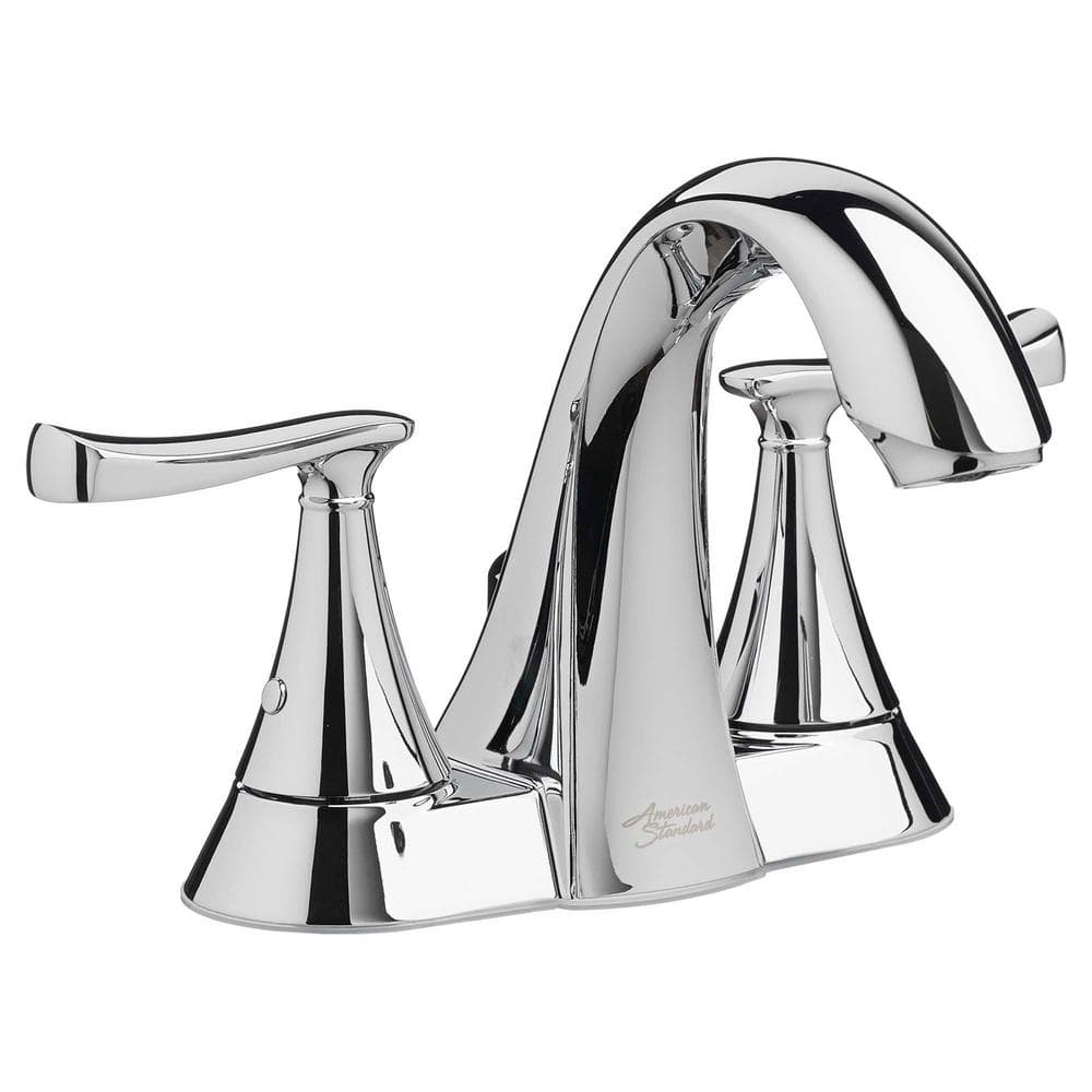 American Standard Chatfield 4 In Centerset 2 Handle Bathroom Faucet In Polished Chrome 7413201 002 The Home Depot