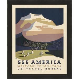 See America, Welcome to Montana, 1936 II Framed Giclee Vintage Art Print 24 in. x 29 in.
