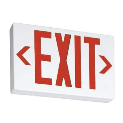 Contractor Select EXR Series 120/277-Volt Integrated LED White and Red Exit Sign