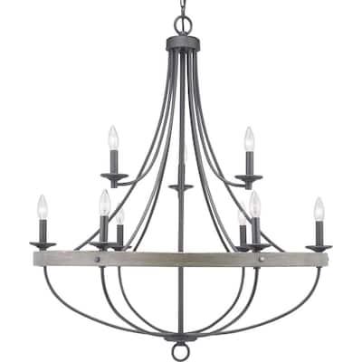 Gulliver Collection 9-Light Graphite Coastal Chandelier Light