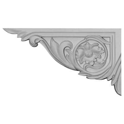 5/8 in. x 11 in. x 6-1/4 in. Polyurethane Left Vincent Stair Bracket Moulding