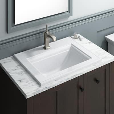 Margaux Single Hole Single Handle Low-Arc Bathroom Vessel Sink Faucet in Vibrant Brushed Nickel