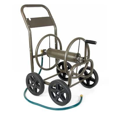 250 ft. 4-Wheel Garden Water Hose Cart