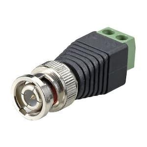 Terminal Block BNC Male Coax Cat5 Camera CCTV Video Balun Connector (10-Piece)