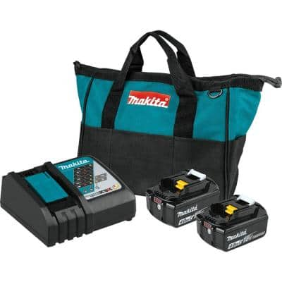 18-Volt LXT Lithium-Ion 4.0 Ah Battery and Rapid Optimum Charger Starter Pack