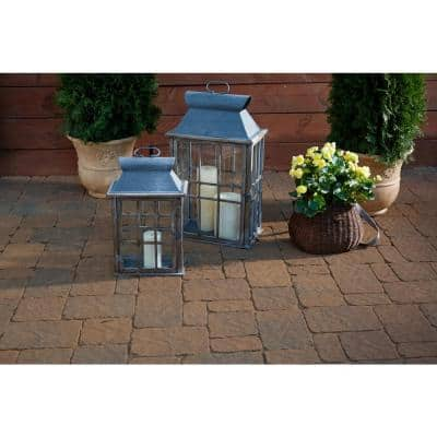 Marseilles 7 in. x 7 in. x 2.25 in. Carriage House Beige/Charcoal Concrete Paver