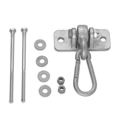 Heavy Duty Swing Hanger with 4 in. Snap Hook - Mounting Hardware Included