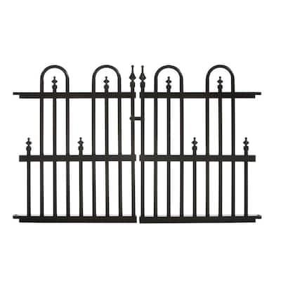 Roxbury Garden Perimeter 3 ft. W x 2 ft. H Aluminum Garden Gate Fence Gate