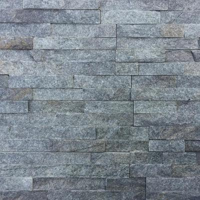 Sterling 6 x 16 x 8 in. Natural Stacked Stone Veneer Corner Siding Exterior/Interior  Wall Tile (10-Box/64.17 sq ft)