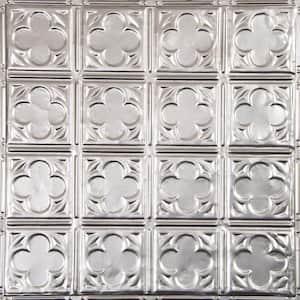 Pattern #35 24 in. x 24 in. Stainless Steel Tin Wall Tile Backsplash Kit (5 pack)