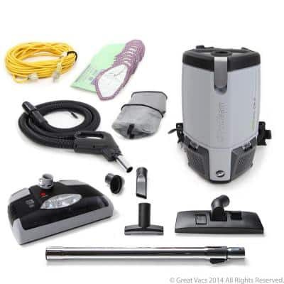 New ProVac FS6 Commercial Backpack Vacuum Cleaner 6 Qt. with Power Head