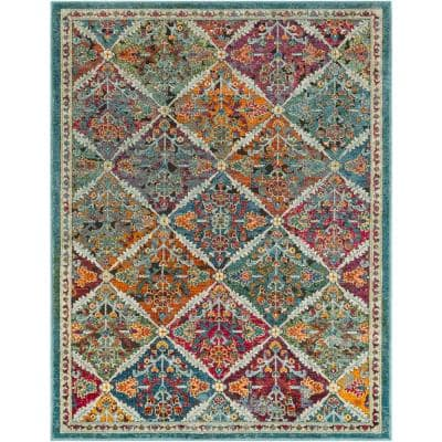 Artistic Weavers Caius Multi 3 Ft 11 In X 5 Ft 11 In Oriental Area Rug S00161011256 The Home Depot