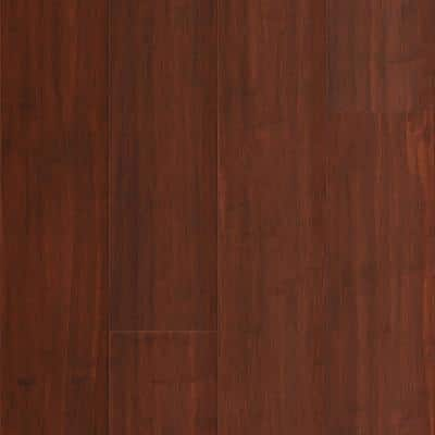 Cognac 9/16 in. T x 5.31 in. W x 72.87 in. L W Click Bamboo Engineered Hardwood Flooring (21.50 sq. ft.)
