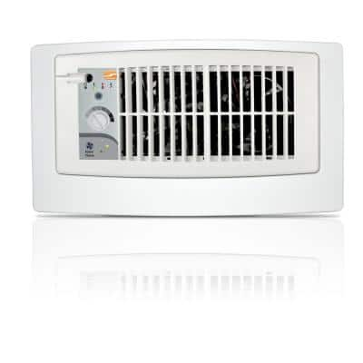 Flush Fit Smart Register Booster Fan in White with Adaptor Plate Included