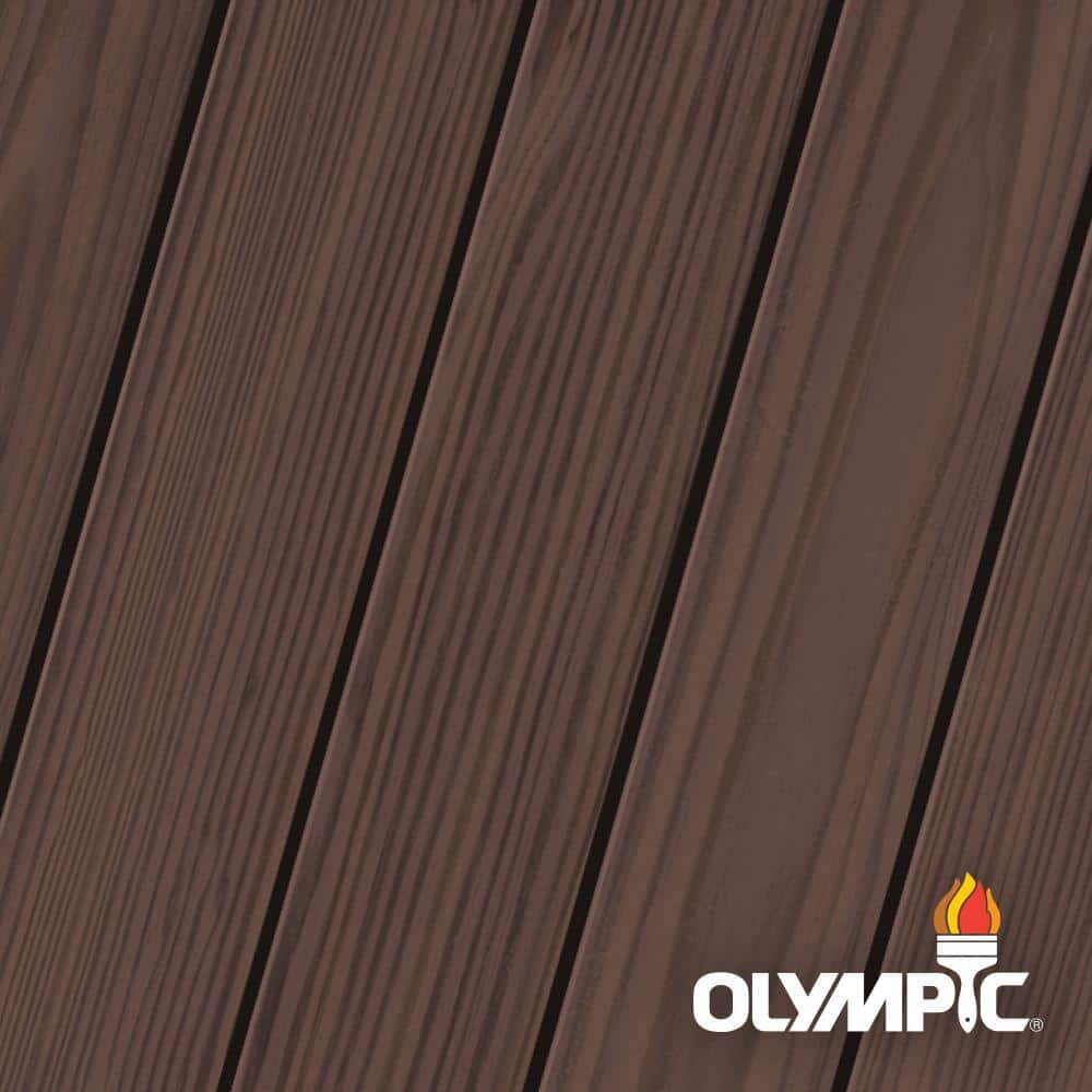 Olympic Elite 3-gal. Royal Mahogany EST10 Semi-Transparent Exterior Stain and Sealant in One Low VOC