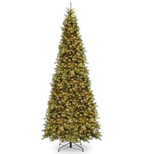 12 ft. Tiffany Fir Slim Tree with Clear Lights