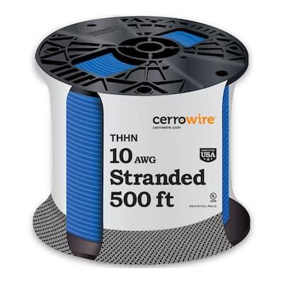 500 ft. 10 Gauge Blue Stranded CU THHN Wire