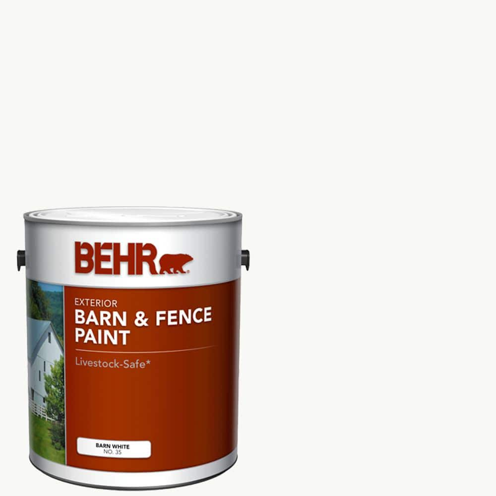 BEHR 1 Gal. White Exterior Barn and Fence Paint
