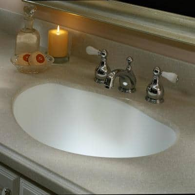 2 in. H x 2 in. H Solid Surface Countertop Sample in Ash Concrete