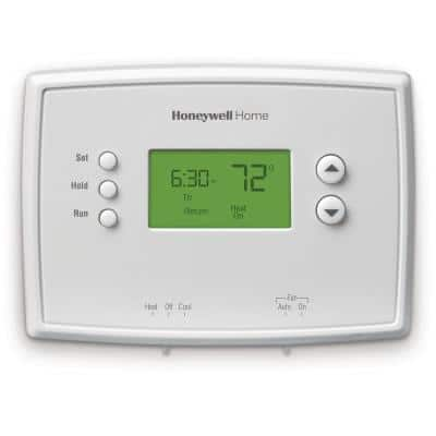 7-Day Programmable Thermostat with Digital Backlit Display