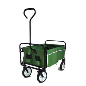 Belle Garden Shopping Folding Wagon Beach Cart in Green
