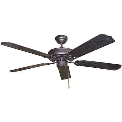 52 in. Outdoor Black Ceiling Fan