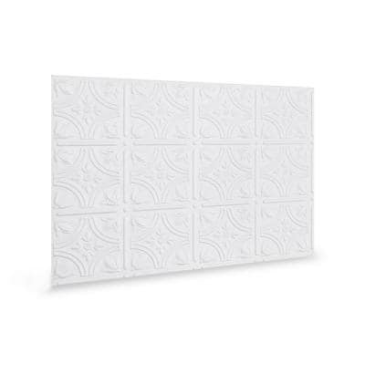 18.5'' x 24.3'' Empire Decorative 3D PVC Backsplash Panels in White 9-Pieces
