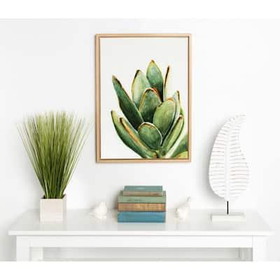 "Sylvie ""Succulent 18"" by Redstreake Framed Canvas Wall Art"