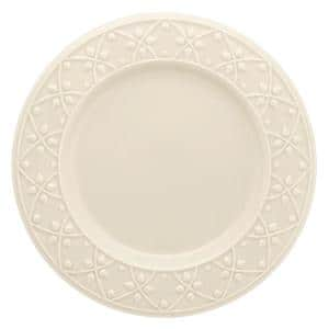 10.43 in. Mendi Ivory Dinner Plates (Set of 12)
