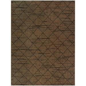 Trellis Chocolate Brown 5 ft. x 7 ft. Indoor/Outdoor Area Rug