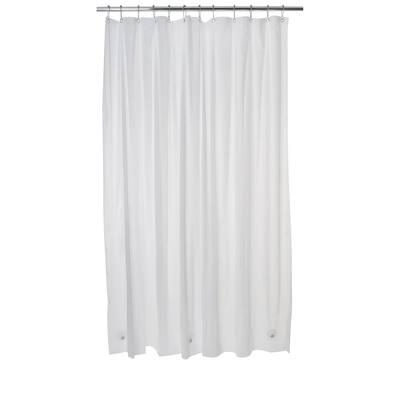 PEVA Shower Curtain Liner in White