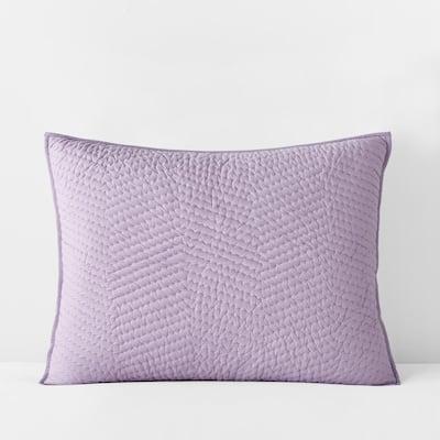 Company Cotton Lilac Solid Standard Sham