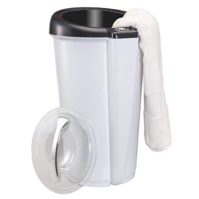 Towel Warmer Large Bucket Style Luxury Heater w/Lockable Lid : Fits Up to Two 40 in. x 70 in. Oversized Bath Sheet Towel