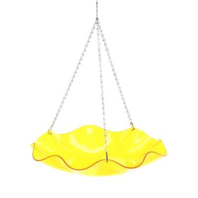Yellow Hanging Acrylic Bird Bath