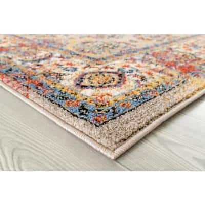 Scentasia Multi-Colored 8 ft. 9 in. x 11 ft. 9 in. Vintage Floral Area Rug