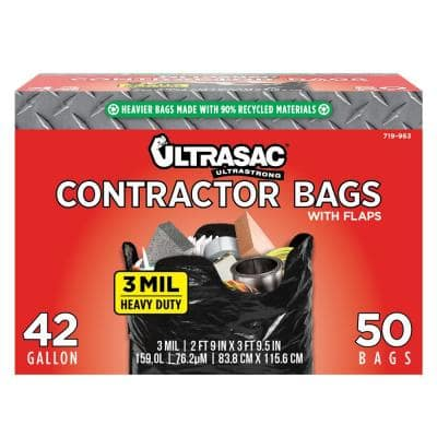 42-Gallon Contractor Bag with Flaps (50-Count)