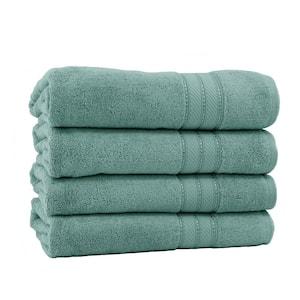 Spunloft 4-Piece Eucalyptus Solid Cotton Bath Sheet Set