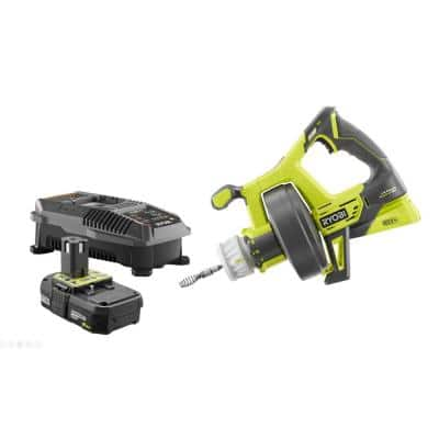 ONE+ 18V Lithium-Ion Hybrid Drain Auger Kit with ONE+ 2.0 Ah Battery and 18V Charger