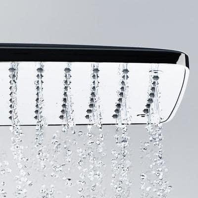 4-spray 14.125 in. Dual Shower Head and Handheld Shower Head in Chrome