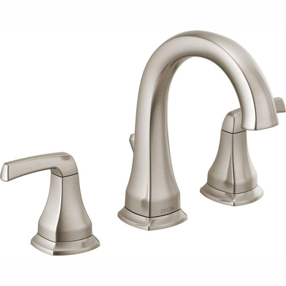 Reviews For Delta Portwood 8 In Widespread 2 Handle Bathroom Faucet In Spotshield Brushed Nickel 35770lf Sp The Home Depot